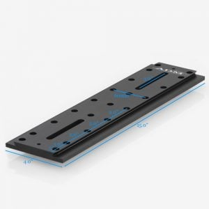 "ADM D Series 15"" Universal Dovetail Bar 60mm Spacing (DUP15M) Measurements"