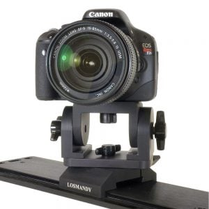 Losmandy DV Series Three Axis Camera Mount (DVCM2) with Camera Mounted